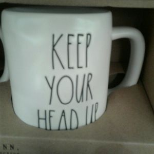 Rae Dunn ' KEEP YOUR HEAD UP  ' mug